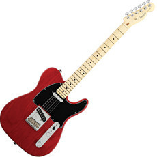 Standard Telecaster Crimson Red Transparent Ash Maple