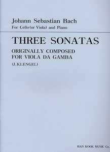 Bach Three sonatas  Cello