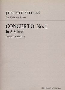 Accolay Concerto No.1 in A Minor Viola